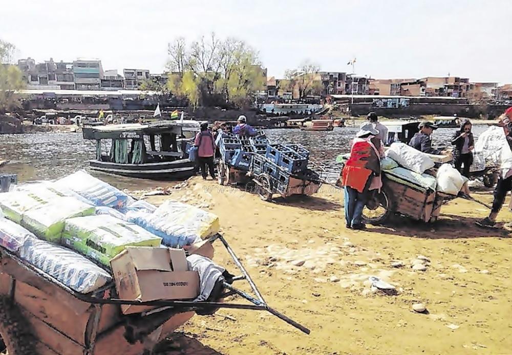 mercaderias contrabando chalanas bolivia