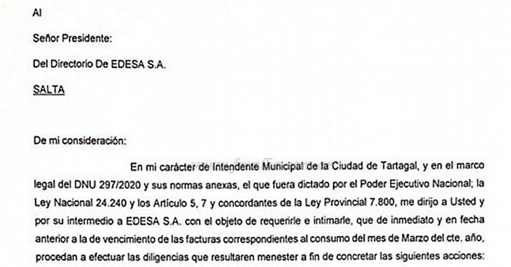 """Tartagal: Mario Mimessi:""""Denunciaremos y accionaremos judicialmente en defensa de los intereses de los habitantes"""""""